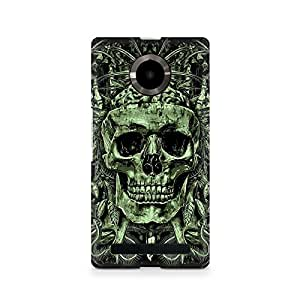 Mobicture Skull Abstract Premium Printed Case For Micromax YU Yuphoria