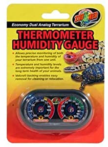 Zoo Med Economy Analog Dual Thermometer and Humidity Gauge
