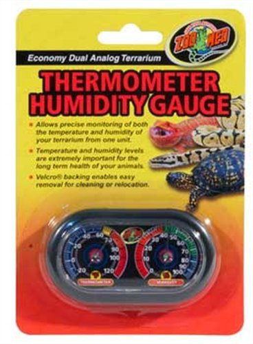Zoo Med Economy Analog Dual Thermometer and Humidity Gauge - 1