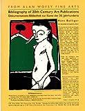 Dokumentations-Bibliothek Zur Kunst Des 20. Jahrhunderts = Bibliography of 20th Century Art Publications (1556600798) by Hans Bolliger