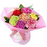 花由 そのままブーケ母の日ver12色のカーネーションのブーケ(花束)【母の日ギフト】