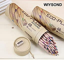 Wiysond 48pcs / set lapis escolar prismacolor art artist color drawing pencils Marco 48 colour of wood eco-friendly pencil paper tube doodle color Pencil Pencils