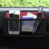 EarthSafe® Bolsa de red de almacenamiento de coches, malla lateral del coche Organizador de bolsillo Smartphone Holder bolsa (Rojo)