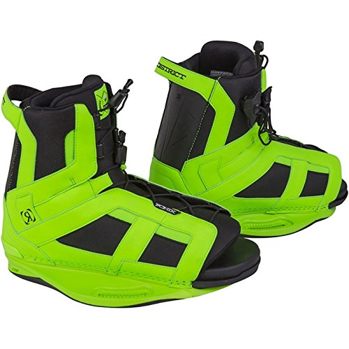RONIX District Wakeboard Bindings - Psycho Green - 5-8.5
