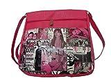 Good Life Stuff Printed Design Sling Bag in Pink For Women (GLSSL-R006)