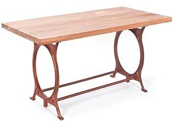 Table à manger en manguier et métal - Dim : 180 x 90 x75 cm -PEGANE-