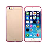 OFTEN New Ultra Thin Dust Plug Hard Crystal Clear Case Cover For Apple 4.7 inch iPhone 6 (Pink)