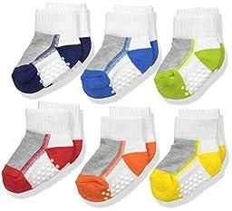 Jefferies Socks Boys\' Performance Tech Quarter 6 Pair Pack, Multi, New Born