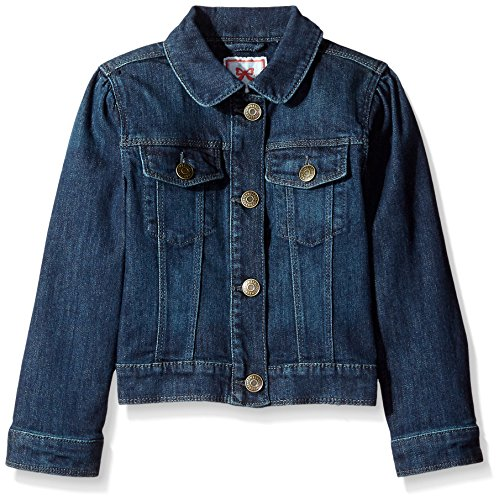 Gymboree Big Girls' Cropped Denim Jacket, Dark Wash, Medium