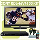 Sony Bravia V-Series KDL-46V4100 46-inch 1080P LCD HDTV + Sony DVD Player Accessory Kit