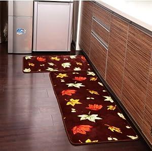 Amazon Ustide 2 Piece Maple Leaf Kitchen Rug Set