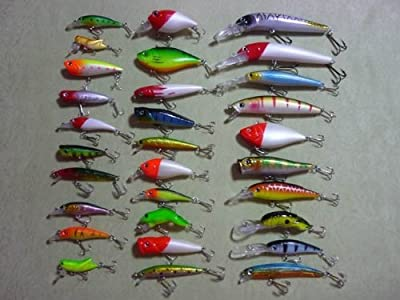 Huge Lot Of 30 Pieces 45-130mm 3-28g Fishing Lures Lure Baitstackles L30 from fishing lures