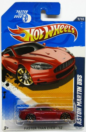2012 Hot Wheels Faster Than Ever Aston Martin DBS Dark Red #99/247