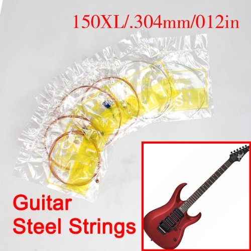 Vktech New Acoustic Guitar Set Of Wooden Guitar 6 Steel Strings 150Xl/.304Mm/012In E