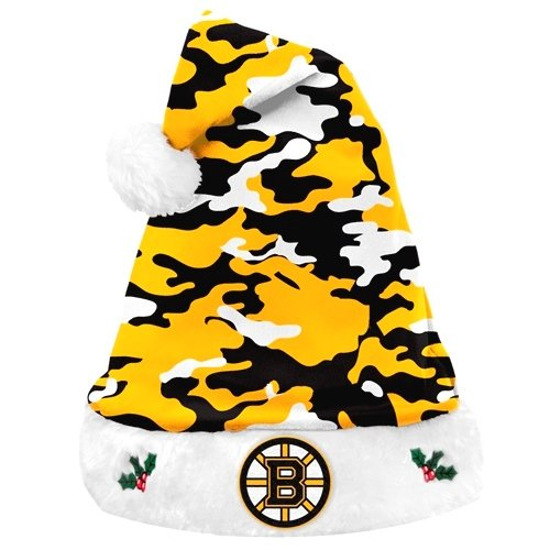 Boston Bruins NHL Team Logo Plush Camouflage Santa Hat at Amazon.com