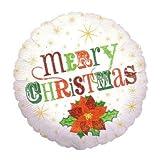 """【クリスマスバルーン】チャーミィパック 18""""クリスマスポインセチア(5枚)  / お楽しみグッズ(紙風船)付きセット [おもちゃ&ホビー]"""