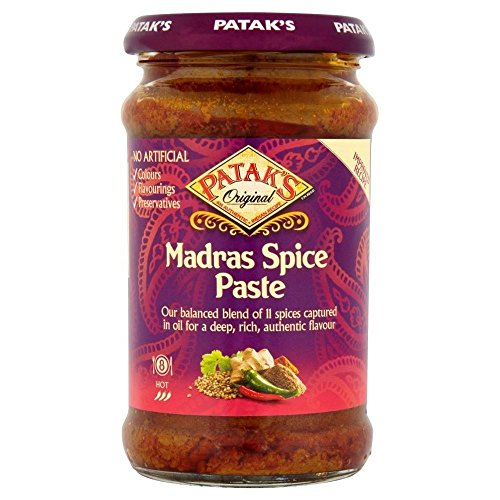 Patak Hot Madras Curry Paste (283g) - Packung mit 2