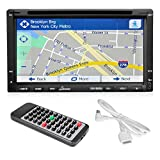 Lanzar SNV695N 6.95-Inch Double-DIN Touchscreen Video DVD/MP4/MP3/CD Player With Hands-Free Bluetooth, GPS w/USA/Canada/Mexico Maps, USB/SD, Aux-In (Certified Refurbished)