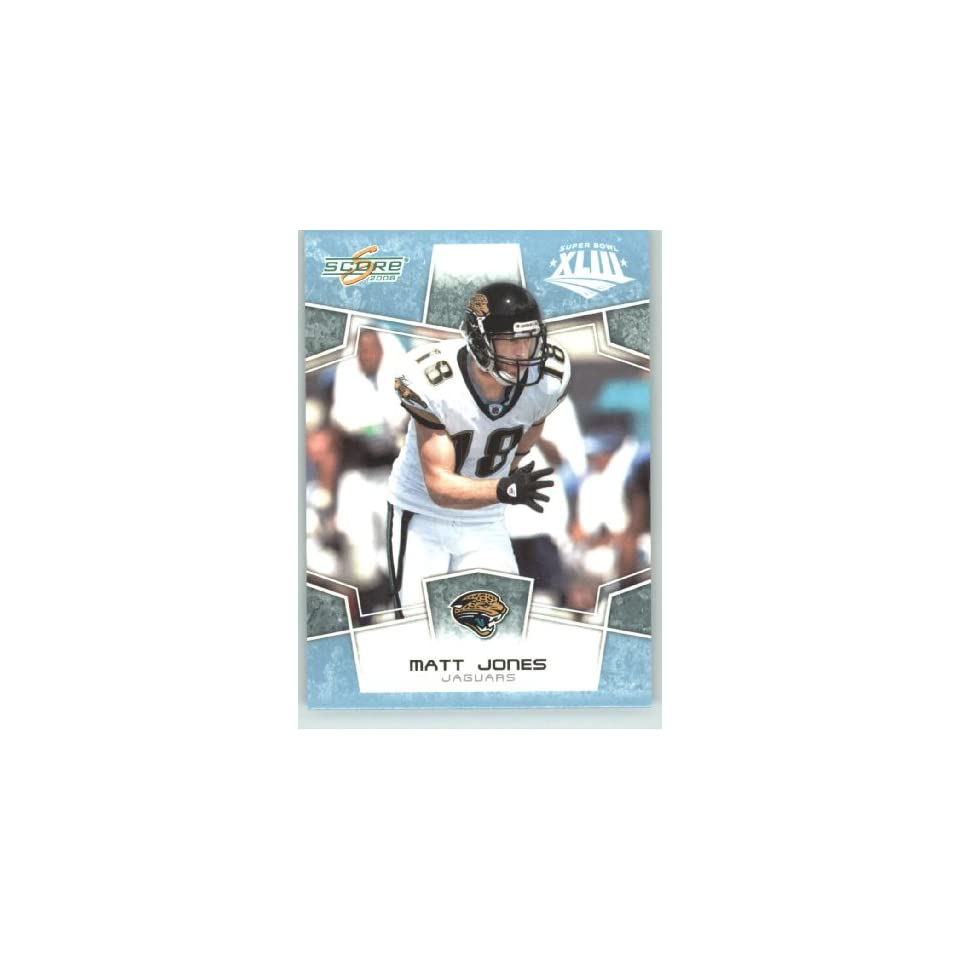 2008 Donruss / Score Limited Edition Super Bowl XLIII GLOSSY # 145 Matt Jones   Jacksonville Jaguars   (Serial #d to 250) NFL Trading Card in a Prorective Screw Down Display Case