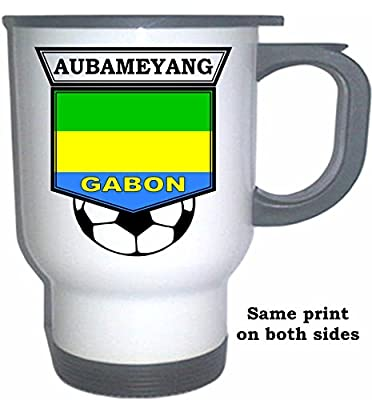 Pierre-Emerick Aubameyang (Gabon) Soccer White Stainless Steel Mug