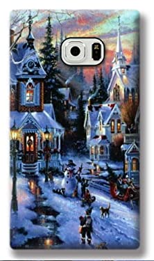 buy Galaxy S6 Active Cover, Christmas Samsung S6 Active Case, Christmas Village Printed