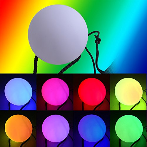 AGPtEK® 8cm/3 inch RGB LED Glow Juggling Ball - 1