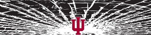 Indiana Hoosiers Shattered Auto Visor Decal