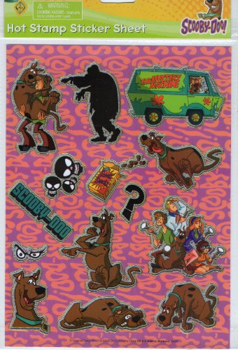Scooby Doo Hot Stamp Sticker Sheet