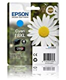 Epson 18XL Cyan Original Extra Large Ink Cartridge (T1812 Daisy) for Epson Expression Home Printers XP102, XP202, XP205, XP30, XP302, XP305, XP402, XP405.