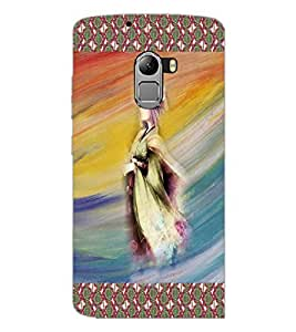 PrintDhaba Animated Girl Sketch D-3580 Back Case Cover for LENOVO K4 NOTE A7010a48 (Multi-Coloured)