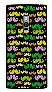 "Humor Gang Moustache Men Printed Designer Mobile Back Cover For ""OnePlus Two"" (2D, Glossy, Premium Quality Snap On Case)"