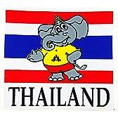 Thailand ステッカー タイ国旗&ゾウさん THAILAND 11cm