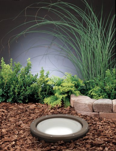 15295AZ In-Ground 1LT 120V 150W Landscape Light, Architectural Bronze Finish and Tempered Convex Glass Lens
