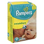 Pampers Swaddlers Diapers, Size 2 (12-18 lb), Sesame Beginnings, 32 diapers