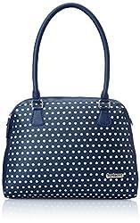 Peperone Women's Satchel Handbag (Blue)
