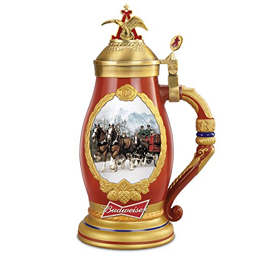 Budweiser Timeless Traditions Collectible Beer Stein Featuring Clydesdales And Beer Wagon by The Bradford Exchange