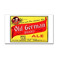 Old German Ale Beer Label Rectangle Sticker Sticker Rectangle by CafePress