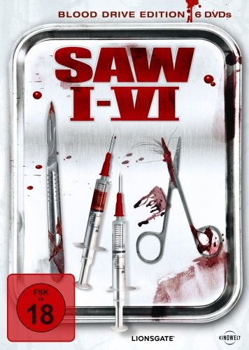Saw I-VI (Blood Drive Edition, 6 Discs)