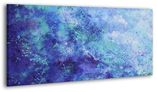 100% HANDMADE + Certificato | Quadro dipinto con colori acrilici | Universo | 130x70 cm | dipinti su tela con lettiga in legno | artigianali | Comodo fissaggio alla parete | Arte Contemporanea