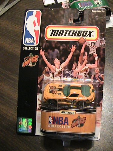 Matchbox NBA Collection Seattle Sonics Yellow Car - 1
