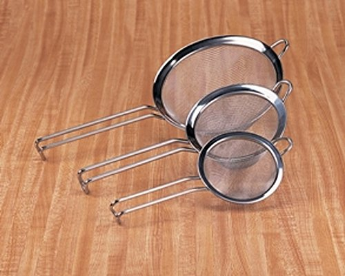 Ybmhome Stainless Steel Fine Mesh Strainer Colander Sieve with Handle for Rinsing Beans Grains Rice Fruits Etc. 2311 (1, 4 Inches)