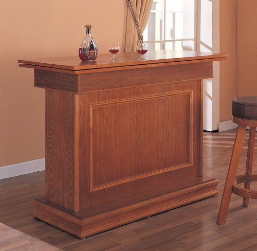 Coaster All in One Game Table/Bar Unit with Wine Shelves, includes, Roulette, Blackjack and Craps, Oak Wood Finish