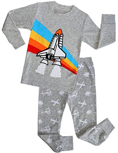Boys Pajamas Children Christmas Gift Kids Airplane Clothes 100% Cotton Size 10