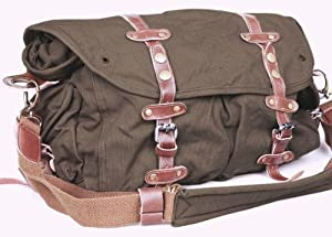 SERBAGS Vintage canvas messenger bag for men military