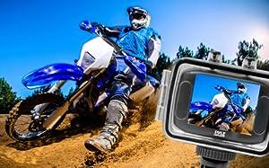 Cámara HD 720p mini Pyle PSCHD30BL para deporte, con ángulo amplio, entrada para Tarjeta SD y pantalla táctil , color azul