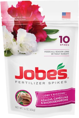 Jobe's 4101 Azalea/Rhododendron/Camellia Outdoor Fertilizer Food Spikes, 10 Pack