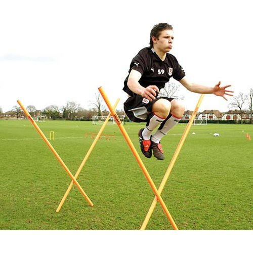 Football Training Boundary Poles (Set of 10), Orange