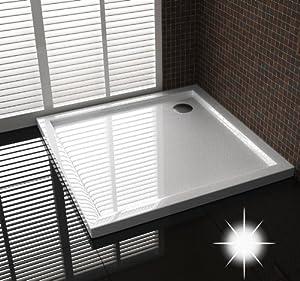 duschtasse duschwanne extra flache 4 cm h he 80x90 cm ablaufgarnitur in der mitte. Black Bedroom Furniture Sets. Home Design Ideas