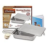Stovetop Smoker - The Original Camerons Stainless Steel Smoker with Wood Chips and 160 Page Cookbook - For Grill or Oven from CM International