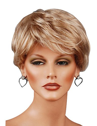 [Capless Short Synthetic Straight Wigs] (Danny Sandy Grease Costumes)